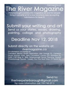 image of the poster for issue three submissions, november 3