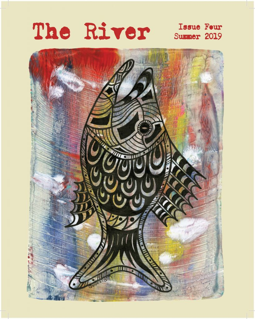 image of the cover of issue four, a stylized painting of a fish